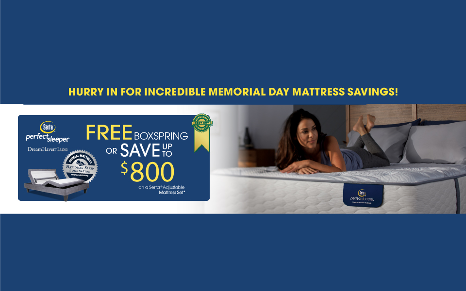 Serta Perfect Sleeper Memorial Day Event 2017