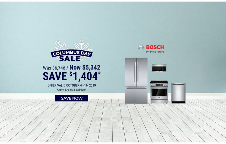 Bosch NEAEG Columbus Day 2019