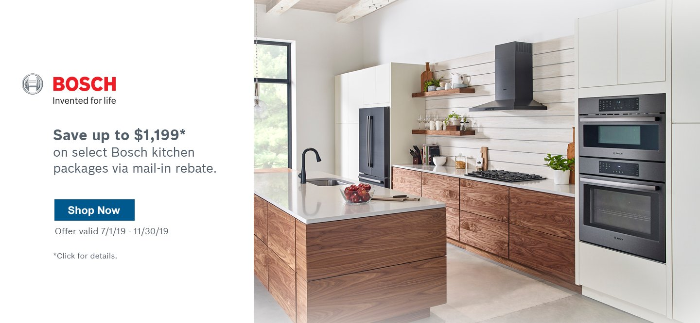 Bosch Kitchen Suite Rebate Q3 2019
