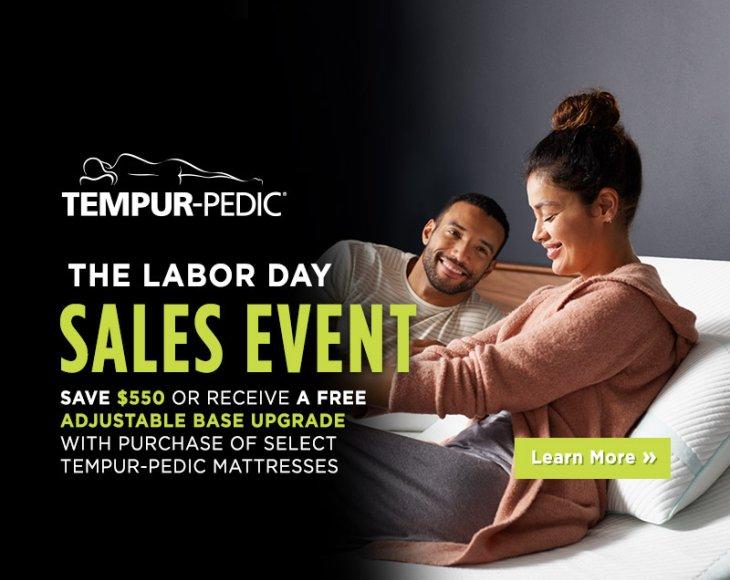 Tempur-Pedic Labor Day 2018