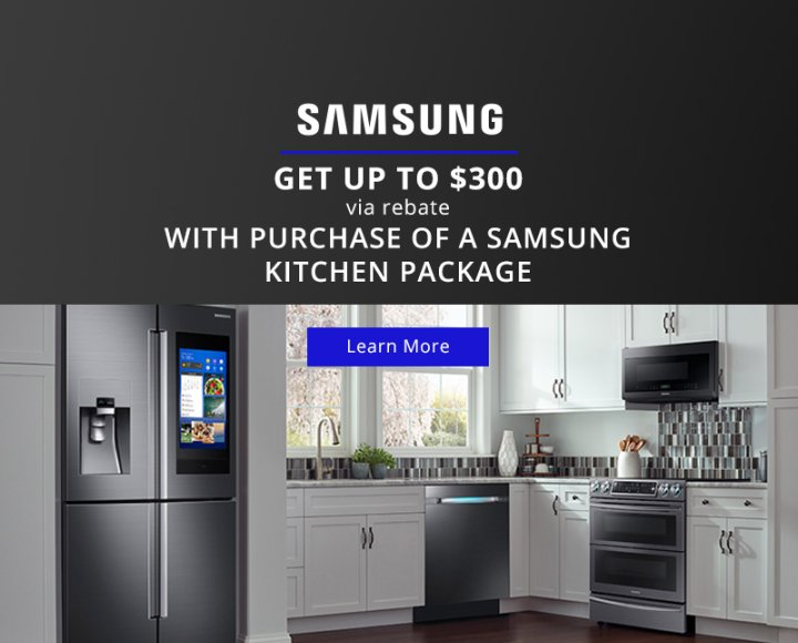 Samsung $300 Summer Kitchen Package 2018