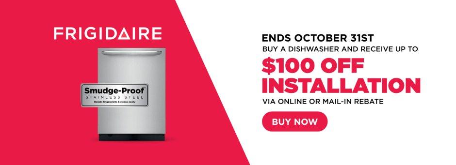 Frigidaire $100 Dishwasher Install October 2018