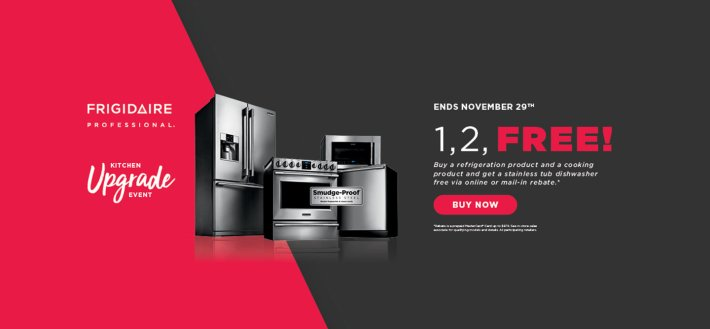 Frigidaire Professional 1 2 Free October 2018