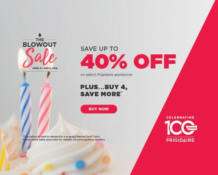 Frigidaire The Blowout Sale $250 Back 2018