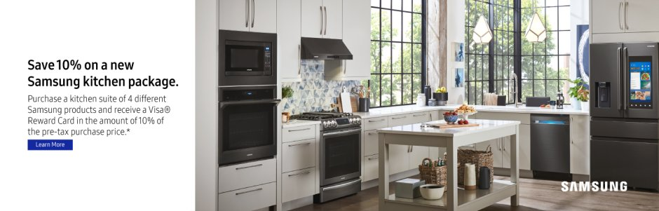 Samsung 10% off Kitchen Package Winter 2018