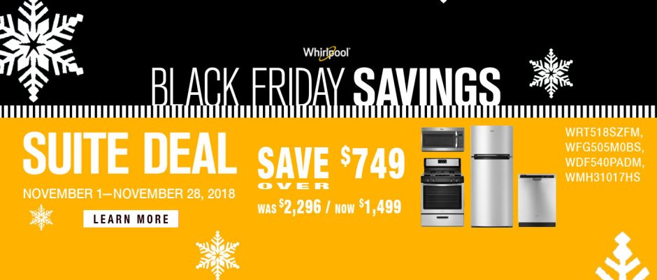 Whirlpool ADC & DMI Exclusive Black Friday 2018