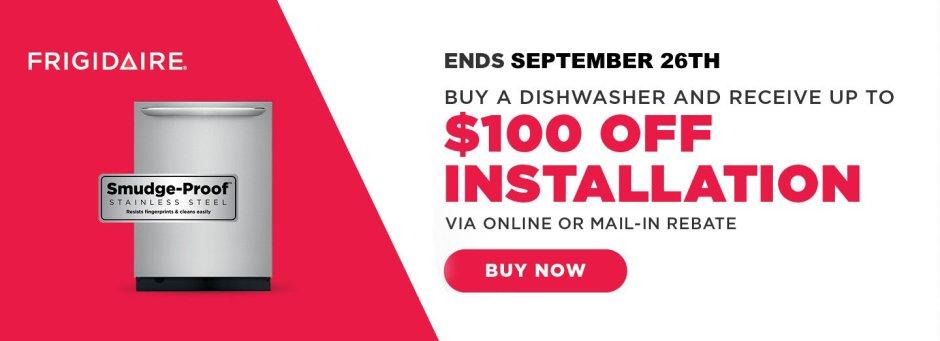 Frigidaire $100 Dishwasher Install September 2018