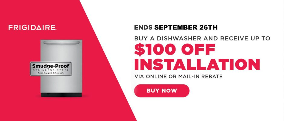 Frigidaire $100 Dishwasher Install September 2018