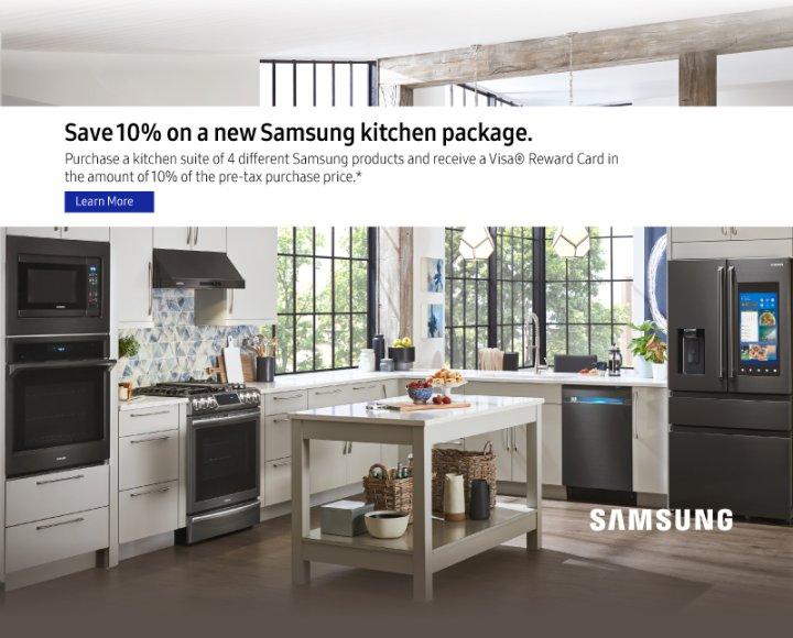 Samsung 10% off Kitchen Package Winter 2018