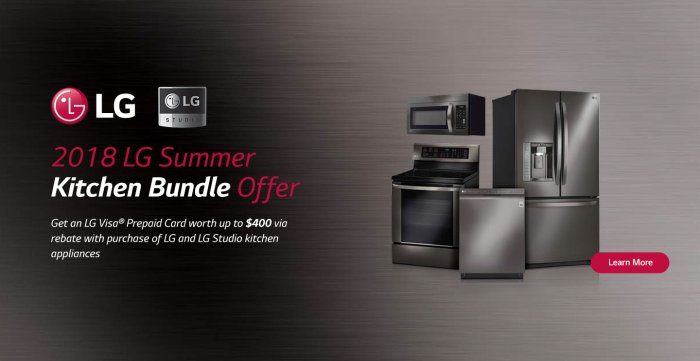 LG Summer Kitchen Bundle May 2018