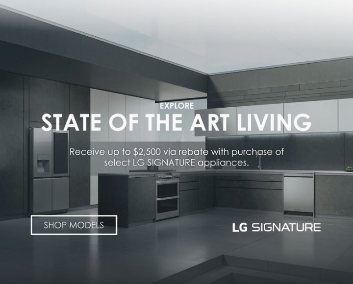 LG SIGNATURE Appliance Bundles July 2019
