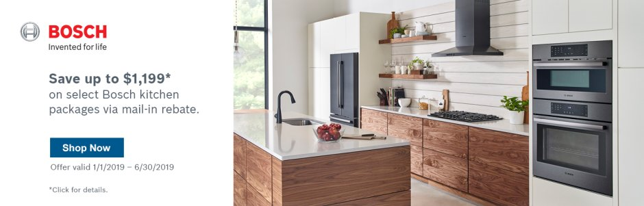 Bosch Kitchen Suite Rebate Q1 2019