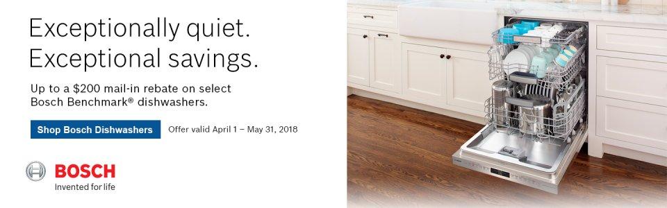 Bosch Benchmark Dishwasher Rebate Q2 2018