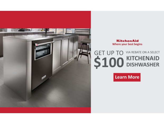 KitchenAid Up to $100 Feb 2018