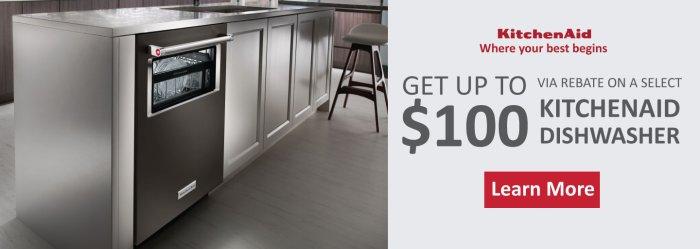 KitchenAid Up to $100 Feb 2018