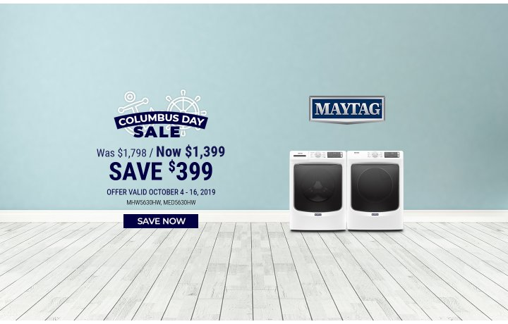 Maytag NEAEG Columbus Day 2019
