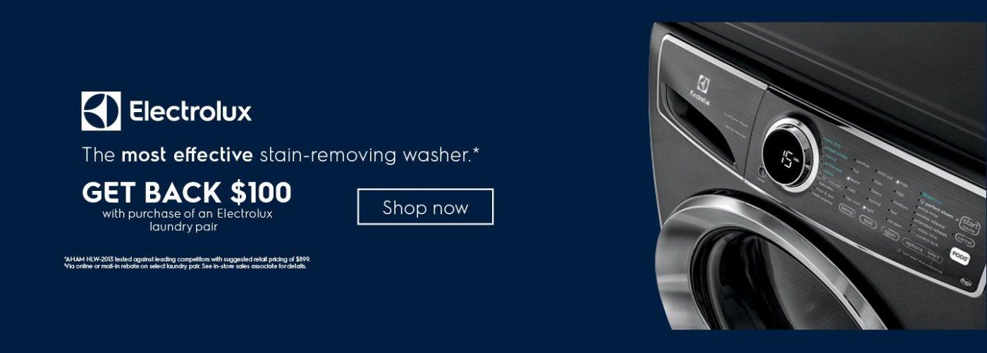 Electrolux $100 Laundry Rebate September 2018