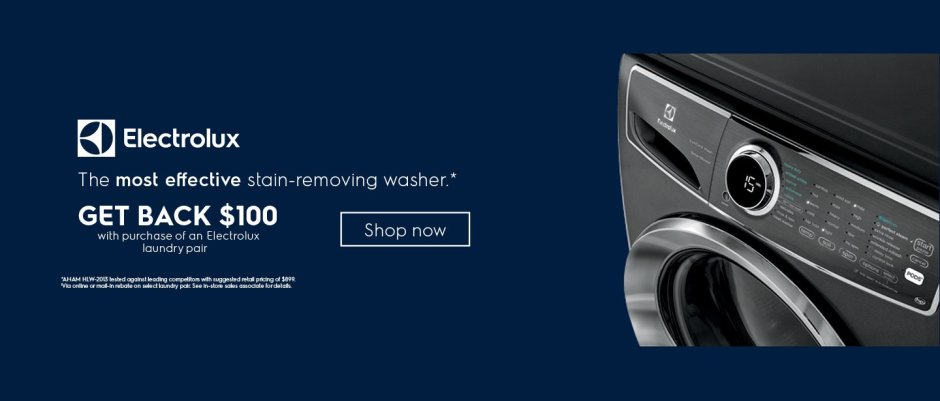 Electrolux $100 Laundry Rebate September 2018