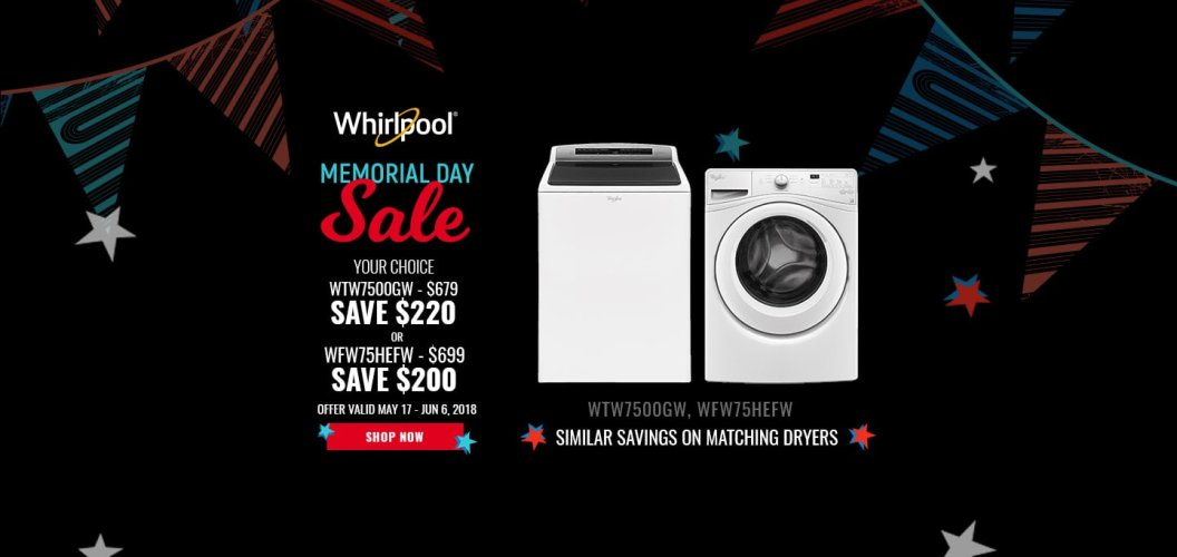 Whirlpool NECO Exclusive Memorial Day 2018