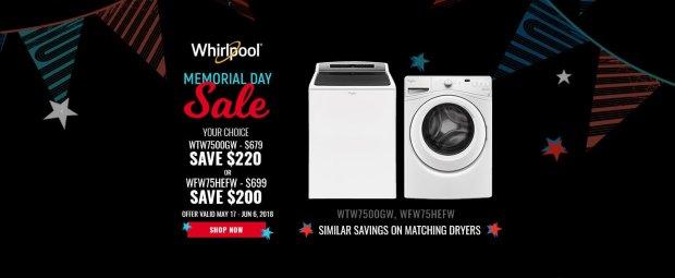Whirlpool NECO Exclusive Memorial Day 2018