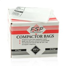 18 inch White Plastic Compactor Bags(Compactor & Disposer)