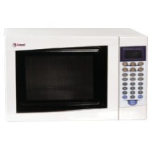 SUMMIT SM902W is a mid-sized microwave oven with a fully white finish.