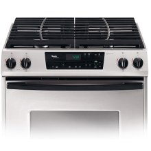 Stainless Steel 30 in. Whirlpool Gold® Slide-In Gas Range