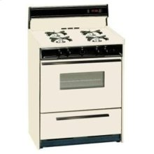 SUMMIT STM1307KW is a 20 inch deluxe gas range with electronic ignition, clock with timer, see-through oven door with oven light and large oven and a lower broiler compartment. Made in USA.