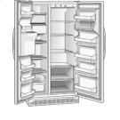 Roper 25.3 cu. ft. Side by Side Refrigerator Product Image