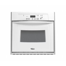 Black-on-Black Whirlpool Gold® 27 in. Single Built-In Oven