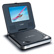 """5"""" TFT PORTABLE DVD/CD/MP3 PLAYER with SWIVEL SCREEN"""