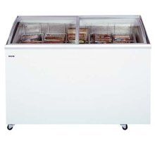 SUMMIT SCF1482S is a commercial chest freezer with two sliding glass lids and a 51 inch width. It has an angled design for better product visibility and two curved lids. It includes 2 baskets and a standard lock.