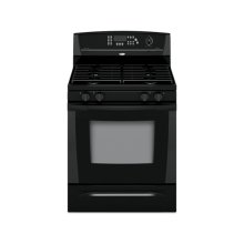 Black-on-Black 30 in. Whirlpool Gold® Self-Cleaning Freestanding Gas Range