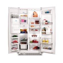 Black-on-Black 23 Cu. Ft. Side-By-Side Refrigerator ENERGY STAR® Qualified
