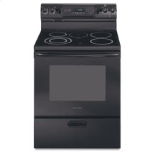 30 in. Width 4 Elements Ceramic Glass Cooktop Thermal Oven Electric Freestanding Range(Black)