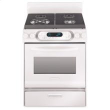 30 in. Width 4 Burners Porcelain Cooktop Gas Convection Oven Architect® Series Gas Freestanding Range(White)