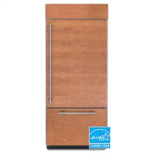 20.4 Cu. Ft. 36 in. Width Freezer-on-the-Bottom Built-In Refrigerator Overlay Series Right-Hand Door Swing(Brushed Aluminum Trim/Panel Ready)