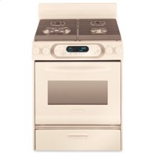 30 in. Width 4 Burners Porcelain Cooktop Gas Convection Oven Architect® Series Gas Freestanding Range(Biscuit)