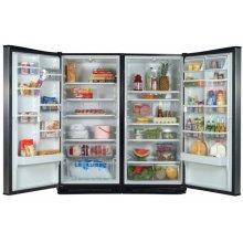 Stainless-on-Black 35.4 Cu. Ft. SideKicks Refrigerator/Freezer