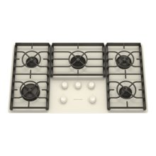 5 Burners Gas-on-Glass Surface Gas 36 in. Width(Biscuit)