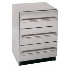 ADA compliant built-in three drawer stainless steel refrigerator with automatic defrost