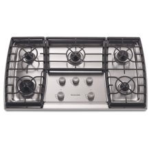 5 Burners Stainless Steel with Clear Coat Surface Gas 36 in. Width(Stainless Steel)