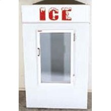 SUMMIT Ice Merchandiser, Model SCF4800 is a 40 cubic foot capacity ice cube merchandiser, capable of holding 110 bags of ice. It is designed for outdoor use.