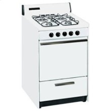 SUMMIT STM1107F is a 20 inch gas range with gas spark ignition and sealed gas burners and a lower broiler compartment. Made in USA