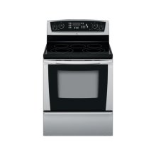 Stainless Steel 30 in. Whirlpool Gold® Self-Cleaning Freestanding Electric Ceramic Glass Range (This is a Stock Photo, actual unit (s) appearance may contain cosmetic blemishes. Please call store if you would like actual pictures). This unit carries our 6 month warranty, MANUFACTURER WARRANTY and REBATE NOT VALID with this item. ISI 34010
