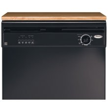 Black Console/Multi-Colored Reversible Door Panel Portable Dishwasher ENERGY STAR® Qualified