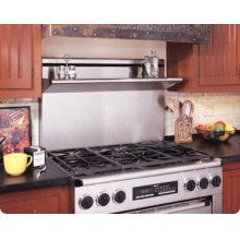 """Backguard for Epicure ER48D Range - Available in 24"""", 9"""" or 3"""" heights with Stainless Steel finish. Note: Island Trim (AERB48D0) required if not installing a backguard."""