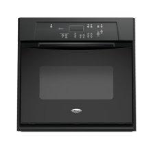Black-on-Black 27 in. Single Built-In Oven