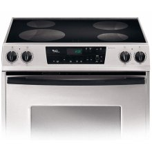 Stainless Steel 30 in. Whirlpool Gold® Slide-In Electric Ceramic Glass Range