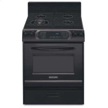 30 in. Width 4 Burners Porcelain Cooktop Gas Convection Oven Architect® Series Gas Freestanding Range(Black)